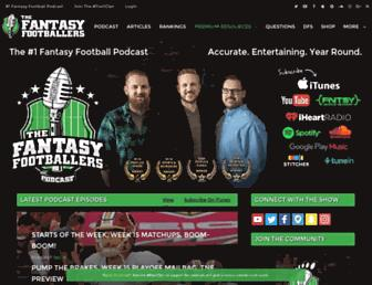 thefantasyfootballers.com screenshot