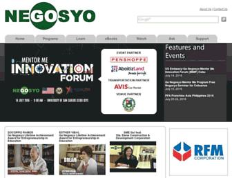 Main page screenshot of gonegosyo.net