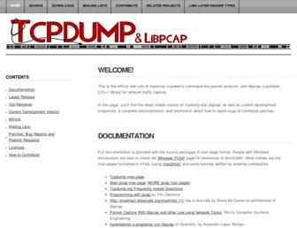 Thumbshot of Tcpdump.org