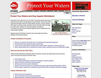 Main page screenshot of protectyourwaters.net
