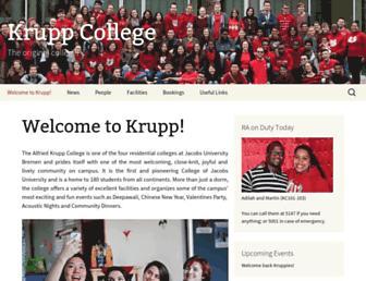Main page screenshot of krupp-college.de