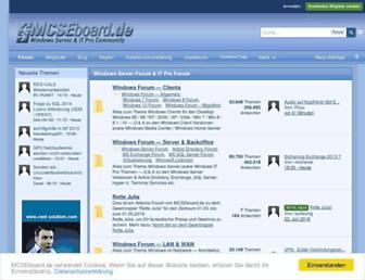 Main page screenshot of mcseboard.de