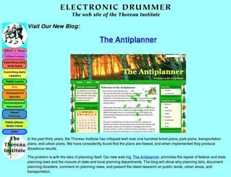 Main page screenshot of ti.org