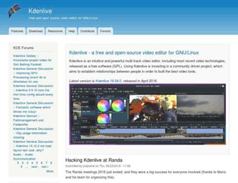Thumbshot of Kdenlive.org