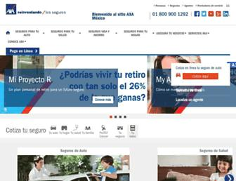 Main page screenshot of axa.mx