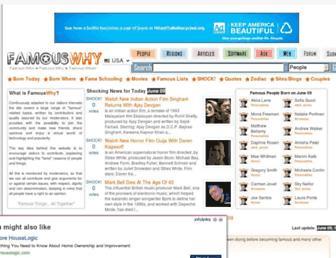 Thumbshot of Famouswhy.com