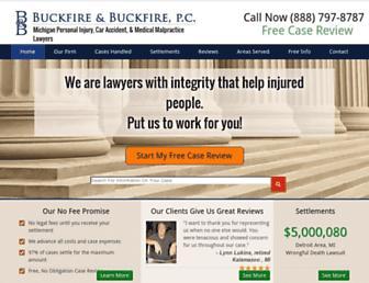 buckfirelaw.com screenshot
