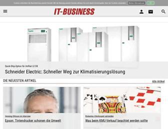 Main page screenshot of it-business.de
