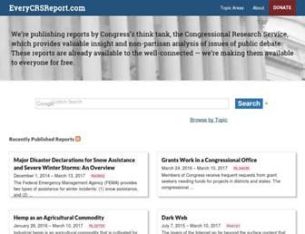 everycrsreport.com screenshot