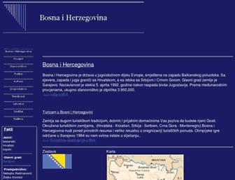 Main page screenshot of bosna-hercegovina.info