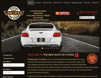thenewautotoystore.com screenshot