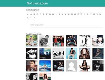 no1lyrics.com screenshot