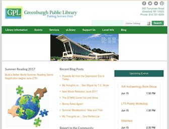 greenburghlibrary.org screenshot