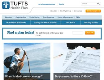 tuftsmedicarepreferred.org screenshot