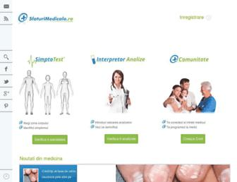 sfaturimedicale.ro screenshot