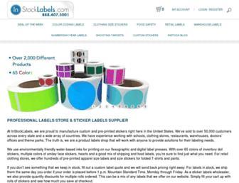 instocklabels.com screenshot