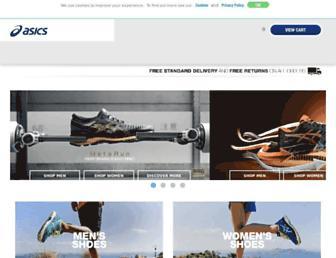 Main page screenshot of asics.co.uk