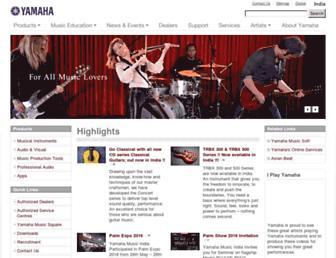 in.yamaha.com screenshot