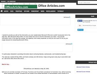officearticles.com screenshot