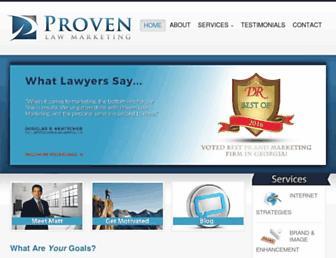provenlawmarketing.com screenshot