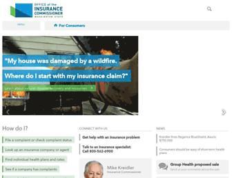 insurance.wa.gov screenshot