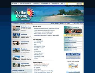 Main page screenshot of co.pinellas.fl.us