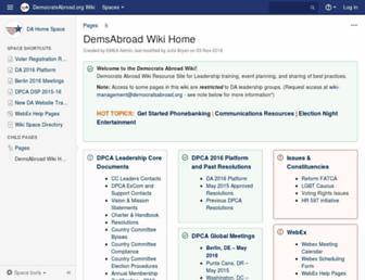 wiki.democratsabroad.org screenshot