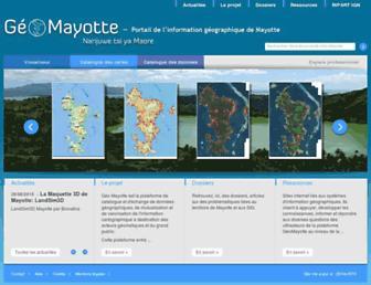Main page screenshot of geomayotte.fr
