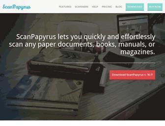 scanpapyrus.com screenshot