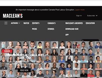 Main page screenshot of macleans.ca