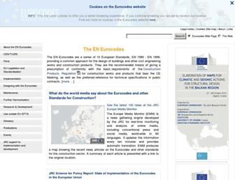 eurocodes.jrc.ec.europa.eu screenshot