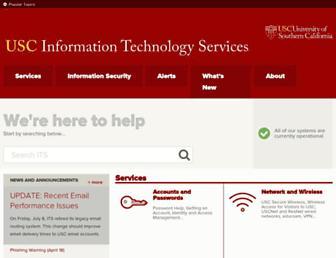 itservices.usc.edu screenshot