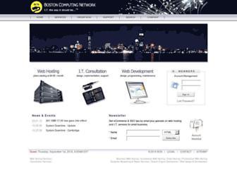 Main page screenshot of bostoncomputing.net