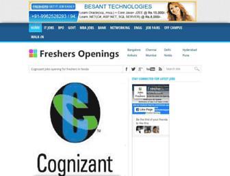 freshersopenings.in screenshot