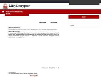 Thumbshot of Md5decrypter.com