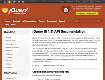 api.jqueryui.com screenshot