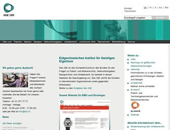 Main page screenshot of ige.ch