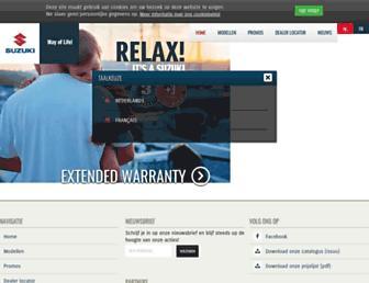 Main page screenshot of suzuki-marine.be