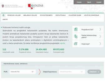 Main page screenshot of katastar.hr