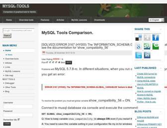 mysql-tools.com screenshot