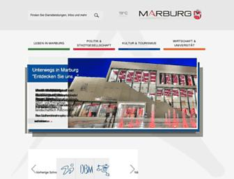 Main page screenshot of marburg.de