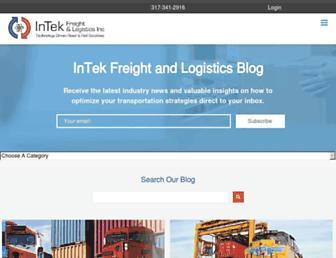 blog.intekfreight-logistics.com screenshot
