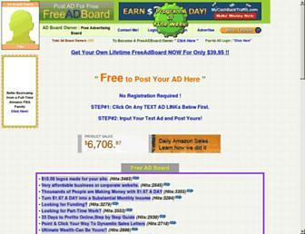 Thumbshot of Freeadvertisingboard.com