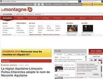 Main page screenshot of lamontagne.fr