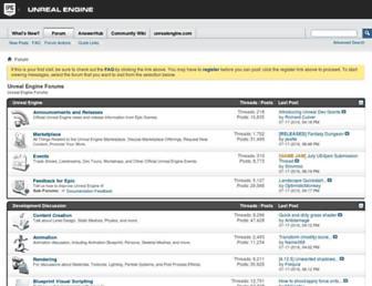 forums.unrealengine.com screenshot