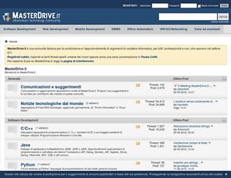 Main page screenshot of forum.masterdrive.it