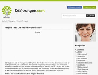 Thumbshot of Prepaid-discounter.de