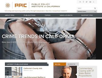 ppic.org screenshot