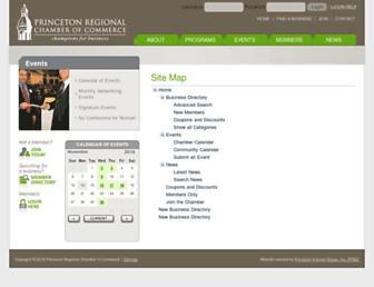 web.princetonchamber.org screenshot