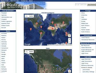 Main page screenshot of washlaw.edu